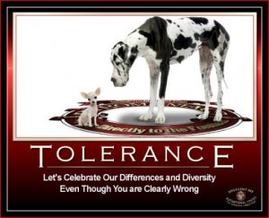The Hypocrisy of Tolerance